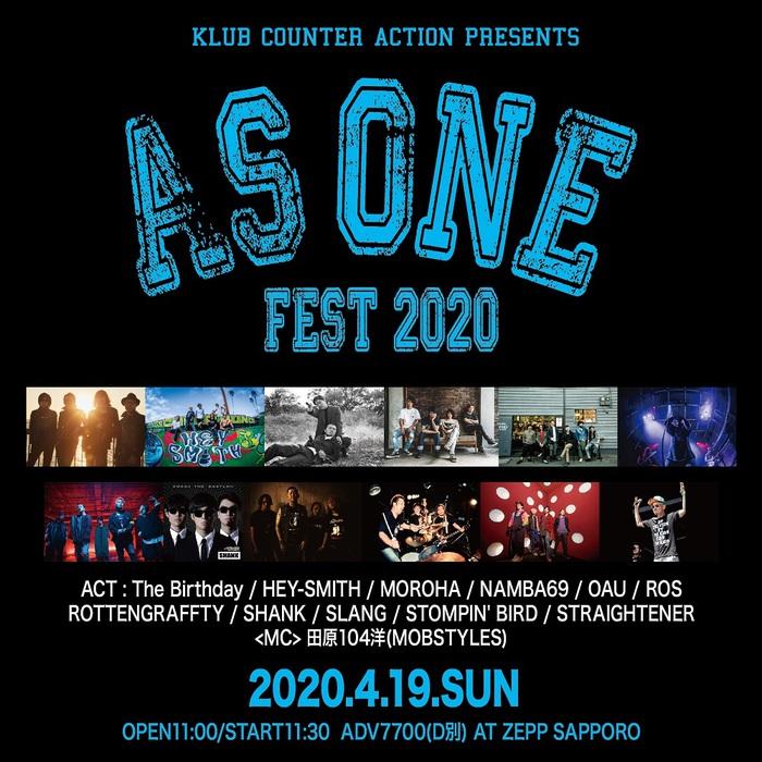 """""""AS ONE FEST 2020 in ZEPP SAPPORO"""" ※延期"""