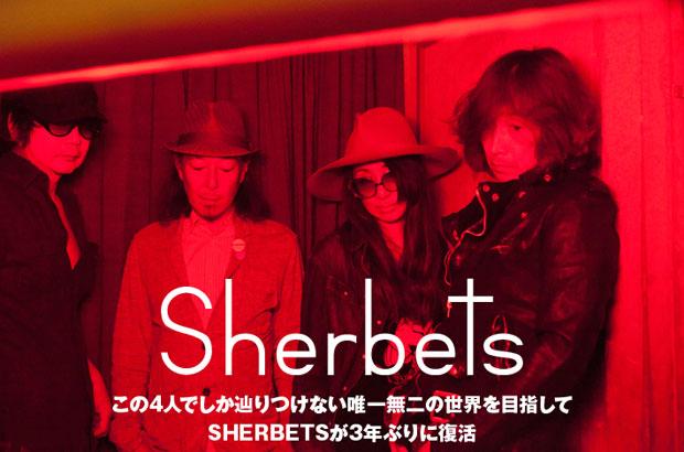 "SHERBETSのインタビューを公開。""唯一無二のSHERBETSワールド""を目指して3年ぶりに復活、結成18年目にして新風を感じさせるニュー・アルバム『きれいな血』を7/8リリース"