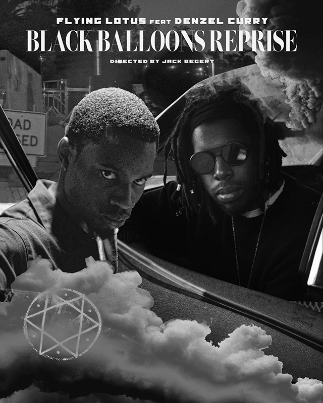FLYING LOTUS、最新アルバム『Flamagra』よりDenzel Curry参加曲「Black Balloons Reprise」MV公開