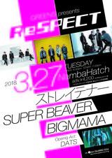 "DATS、BIGMAMA&ストレイテナー&SUPER BEAVER出演の""ReSPECT""オープニング・アクトに抜擢。チケット追加販売も決定"