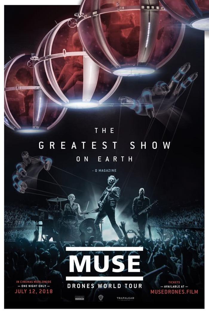"""MUSE、ライヴ・フィルム""""MUSE: Drones World Tour""""より「Psycho」ライヴ映像をフル公開"""