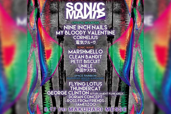 "NINE INCH NAILS、MY BLOODY VALENTINE、FLYING LOTUS、THUNDERCATら出演。8/17開催""SONICMANIA 2018""、タイムテーブル発表"