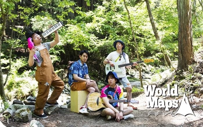 """""""マウンテン・ポップ""""掲げるインスト・バンド World Maps、8/10に新曲「UTAGE」配信リリース決定。新アー写公開も"""