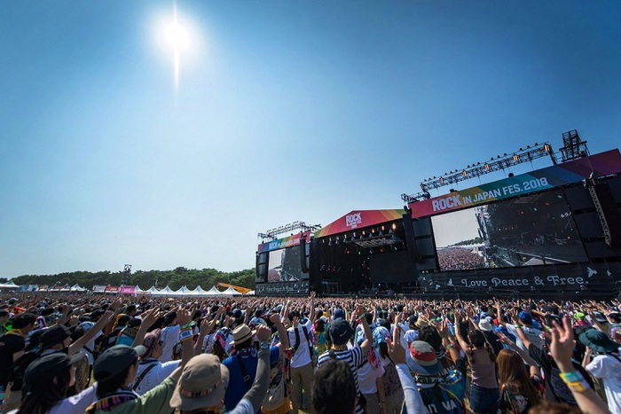 """ROCK IN JAPAN FESTIVAL 2019""、20回目を記念し来年8月に5日間にわたって開催決定"