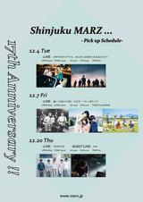 踊ってばかりの国、あらかじめ決められた恋人たちへ、バレーボウイズら出演。12月に新宿MARZ17周年アニバーサリー・イベント3公演を開催決定