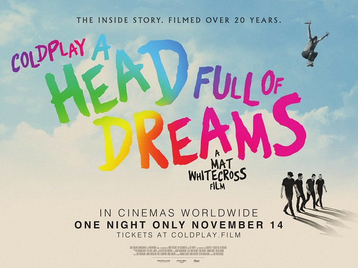 "COLDPLAY、ドキュメンタリー映画""Coldplay: A Head Full Of Dreams""11/14に一夜限りで上映決定"