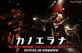 カノエラナのライヴ・レポート公開。シンガーとしての表現力やファンとの強靭な一体感を見せつけ、今後への期待値高めたバンド・ツアー東京公演をレポート