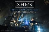 SHE'Sのライヴ・レポート公開。メンバー4人の存在感や、バンドの結束がダイレクトに伝わった、キャリア最大キャパのツアー・ファイナルZepp Tokyoワンマンをレポート