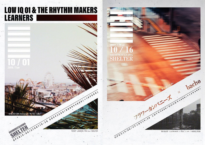 "LOW IQ 01 & THE RHYTHM MAKERS、LEARNERS、フラワーカンパニーズ 、bacho出演。10月に下北沢SHELTER主催イベント""地下室ノ正義""開催決定"