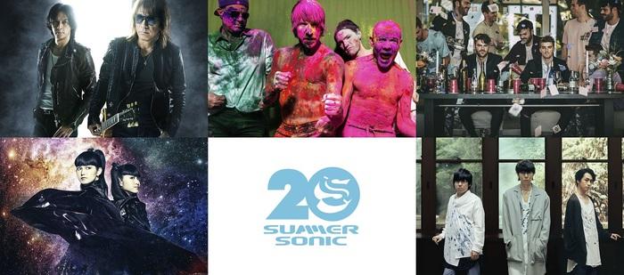 """SUMMER SONIC 2019""、WOWOWでの放送アーティストにレッチリ、チェンスモ、B'z、RADWIMPS、THE 1975、WANIMA、マンウィズ、King Gnu、YUKI、CHVRCHESら決定"