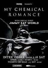 """""""DOWNLOAD JAPAN 2020""""のヘッドライナー務めるMY CHEMICAL ROMANCE、3/28に大阪公演開催決定。スペシャル・ゲストにJIMMY EAT WORLD"""