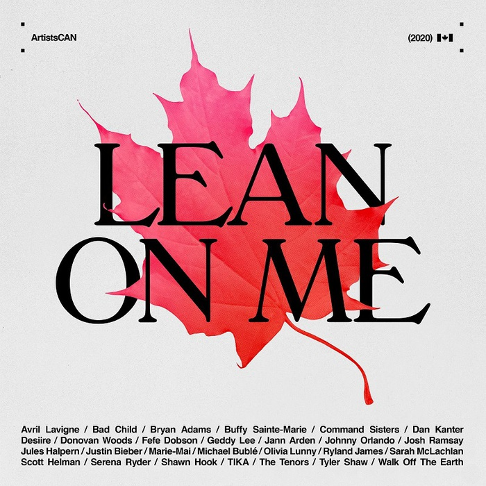 "Avril Lavigne、Justin Bieberらカナダ出身アーティストが集結。""ArtistsCAN""チャリティ・シングル「Lean On Me」配信開始&MV公開"