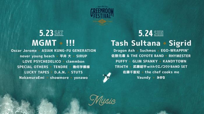 """5月開催予定の""""GREENROOM FESTIVAL'20""""、延期を発表"""