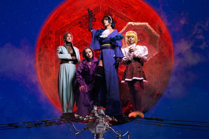 女王蜂、ニュー・シングルより新曲「夜天」来週1/13先行配信が決定。CD収録内容も公開