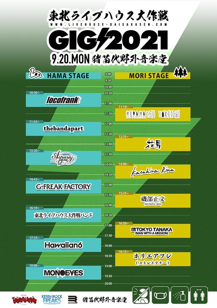 """""""東北ライブハウス大作戦GIG2021""""、タイムテーブル発表"""