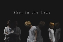She, in the haze キャップ2種+サイン色紙
